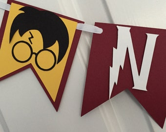 Harry Potter Inspired Name or Happy Birthday Banner