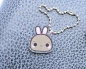 Kawaii Bunny Rabbit Acrylic Silver Planner Charm- Easter Collection