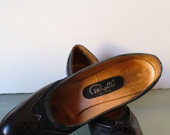 Vintage Pappagallo Made in Spain Wingtip Pumps Size 8.5M