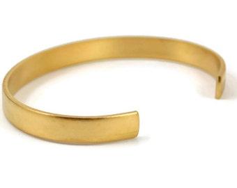 Brass Cuff Bracelet Blank - 1/4 Inch Wide - Raw Brass - Made in the USA Brass