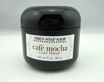 Café Mocha Face Mask . Clay Mask . Face Mask . Chocolate . Coffee . Rhassoul Clay
