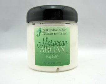 Moroccan Argan Body Butter, Argan Oil, Whipped Body Butter