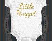Little Nugget design2 Gold glitter - baby One-piece bodysuit, Infant Tee, Toddler Shirt