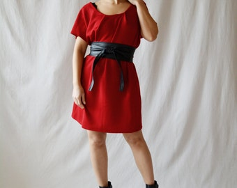 Red dress, Tunic dress, Jumper dress, jersey dress, Valentine's day, aline dress, womens clothes, plus size dress, red tunic dress,red tunic