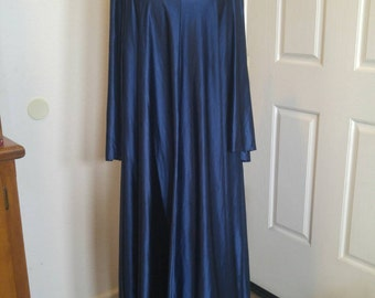 Long blue Medieval style costume dress.