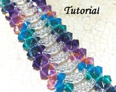RAW Right Angle Weave Lace Swarovski Crystal and Seed Bead Bracelet Tutorial Instant Download PDF