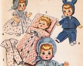 Vintage Doll Clothes Sewing Pattern, McCall's 2183, Uncut Factory Folded