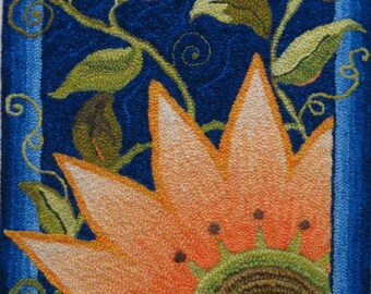 Simply Sunflower, Rug Hooking Pattern