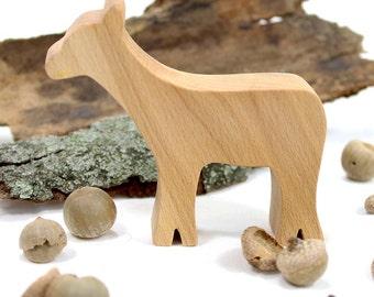 Wooden Toy Deer, Woodland Animal, Forest Animal, Doe, Handmade Wood Toy