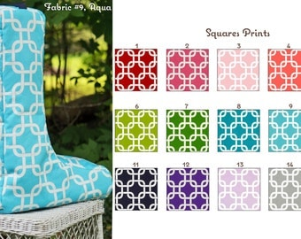 MADE TO ORDER Squares Boot Bag Many Colors