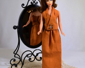 Mod Barbie Retro 60s 70s Halter and Skirt Outfit Doll Clothes