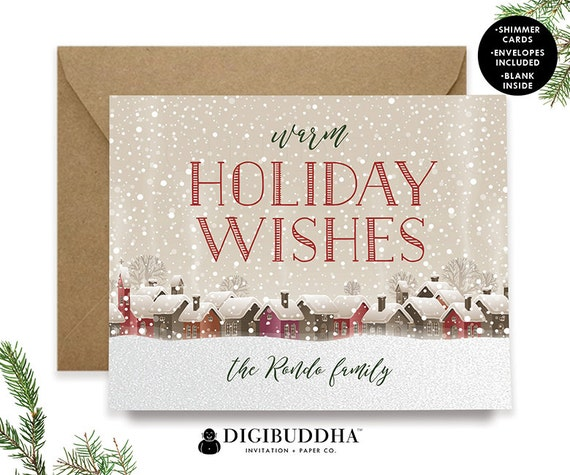 PERSONALIZED CHRISTMAS CARD Set Boxed Holiday Cards Greeting