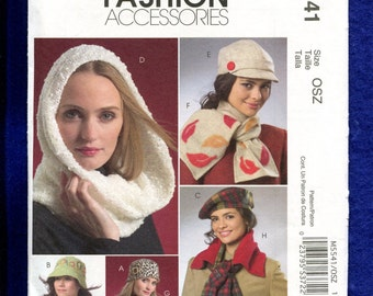 McCall's 5541 Hats and Scarves for the Fashionable Lady UNCUT
