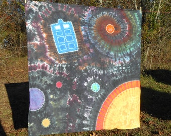 Doctor Who Tardis Space Tie Dye Wall Tapestry & FREE SHIPPING #430