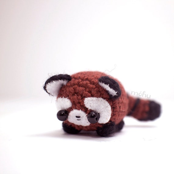 Amigurumi Red Panda : red panda plush amigurumi animal by mohustore on Etsy