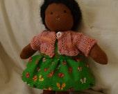 "8"" dress up doll, waldorf doll, tiny doll"