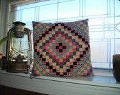 Vintage Quilted Throw Pillow