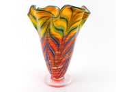 Red Blown Glass Vase