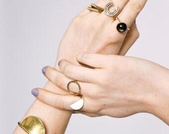 Hemisphere Cuff || Modern Brass Cuff Sun Bracelet