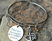 Mother Son Bracelet - Anchor Bracelet - Anchor Charm Bracelet - Mother Anchor Bracelet - Mother Son Anchor Bracelet - Mother Gift Idea