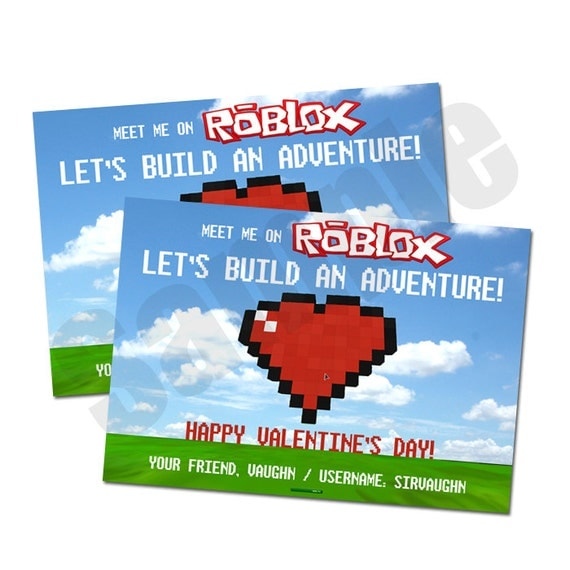 Items similar to ROBLOX-Inspired Valentine Digital ...