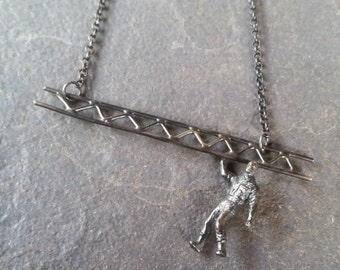 grúa/ tow truck / miniature / miniatura / silver / plata /colgante / pendant