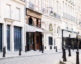 Paris Street Photograph, Sunday on Place Dauphine, Travel Fine Art Photograph, French Home Decor, Large Wall Art, Neutral Urban Decor