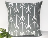 Grey arrow cushion cover gray arrow pillow arrow cushions arrow pillows throw pillow geometric decorative pillow