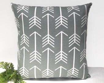 Grey arrow cushion cover gray arrow pillow arrow cushions arrow pillows throw pillow geometric decorative pillow