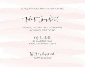 watercolor bridal shower invitation