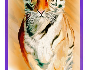 Clemson Tiger Design for note Cards or Tee Shirts
