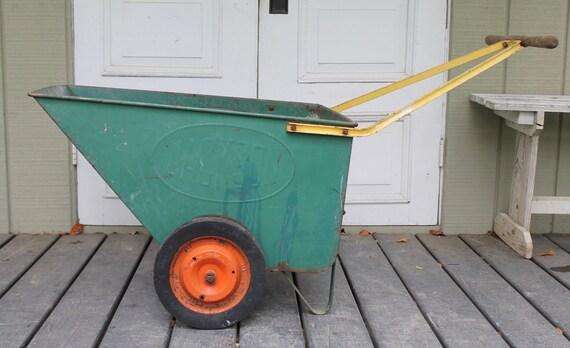Vintage Jackson Deluxe Garden Cart // Garden Wheelbarrow // Wood Handle  From MyBarn On Etsy Studio