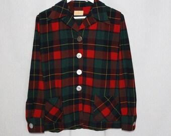 Vintage Plaid Pendelton Wool Shirt