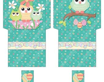 Printable Digital Easter Tea Bag Envelopes / Wrappers