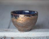small tea bowl cracked surface  crawl glaze
