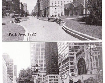 Vintage Postcard From Jeff Prant Depicting Park Avenue New York City New York From 50th Street In 1922 - Black And White Park - Taxi Cabs