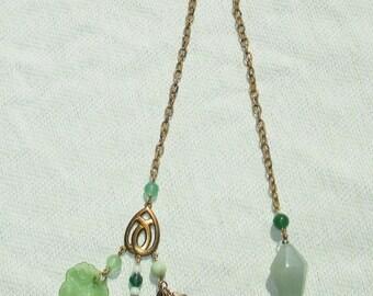 Handmade Golden Earth Element Pendulum