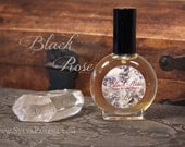 Natural perfume spray - rose spice musk - BLACK ROSE - 1 once ounce spray bottle