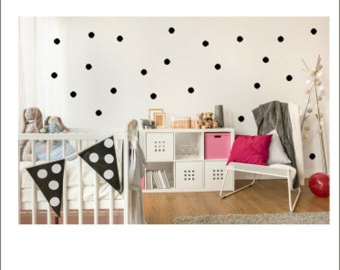 Polka Dot Wall Decals Set of Polka Dots Peel and Stick Dots Nursery Polka Dots Bedroom Wall Dots Wall Stickers Polka Dots Party Decor Vinyl