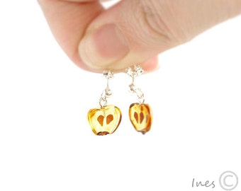 Baltic Amber Apple Earrings