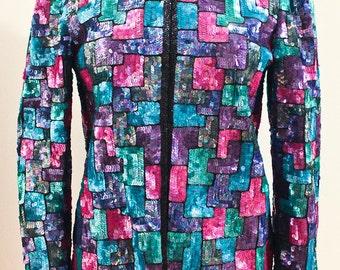 80s Vintage Sequin Jacket