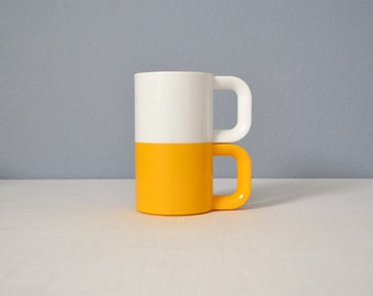 Vintage Pair Stackable Short Max Mugs - Ingrid of Chicago
