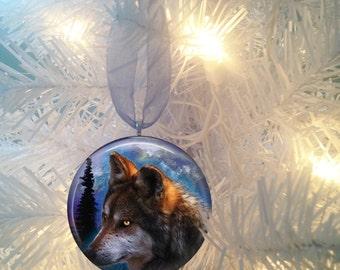 Wolf #14 Christmas Tree Ornament