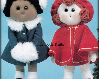 No.505 Sewing Pattern PDF Vintage 1970's Winter Girl Dolls - Girl Child Toddler Baby Toy Softie - Sewing Pattern - Little Red Riding Hood