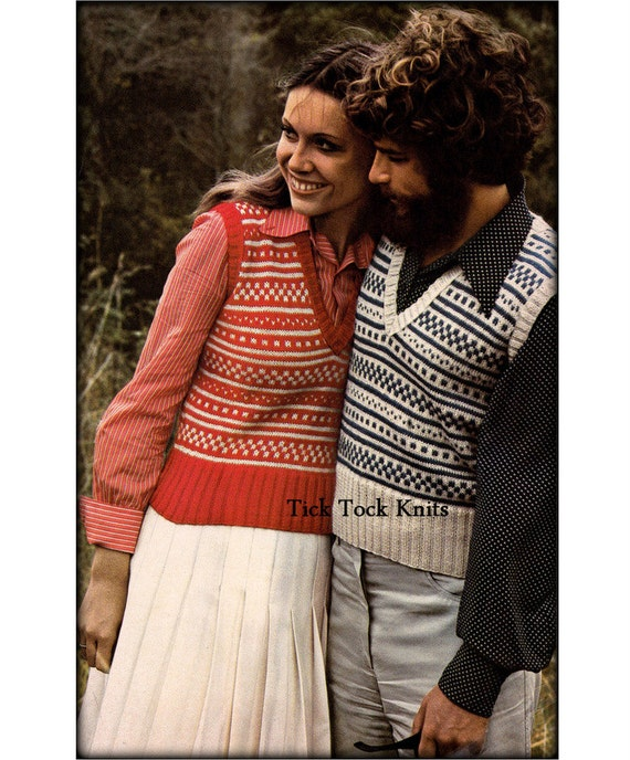 No.571 Matching Fair Isle Sweater Vests For Men & Women