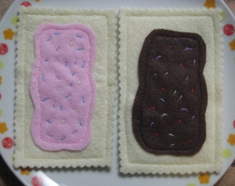 SALE Felt Play Food - Poptarts - Set of 2  - READY to SHIP