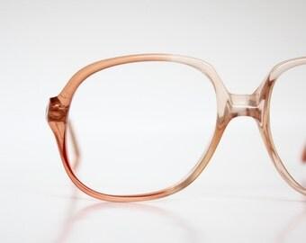 Vintage French Warm Peach Eyeglasses Sunglasses Frames