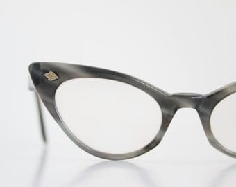 Vintage 50's Gray Cat Eye Eyeglasses Sunglass Frames