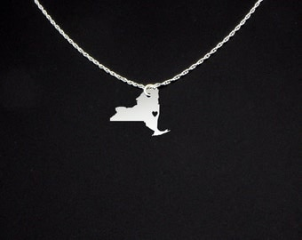 New York Necklace - New York Jewelry - New York Gift