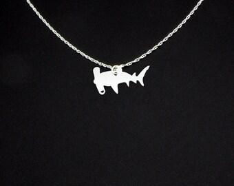 Hammerhead Shark Necklace - Sterling Silver